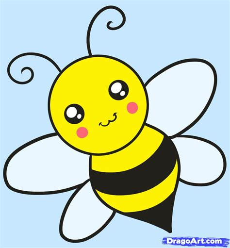 How to Draw a Bee for Kids, Step by Step, Animals For Kids