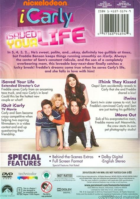 iCarly: iSaved Your Life (DVD 2010) | DVD Empire